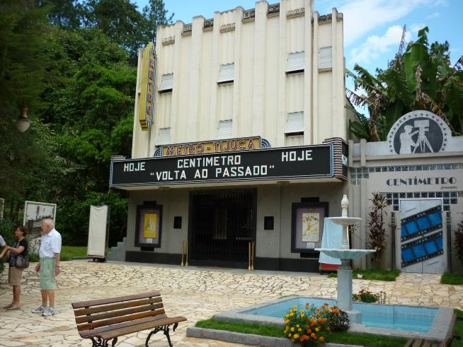 The Metro-Tijuca replica. The theatre is visited by tourists mainly on the weeke